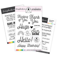 Scrapbook.com - Cards For Kindness - Heartfelt Kindness Stamp Set