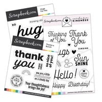 Scrapbook.com - Cards For Kindness - Basics Stamp Set
