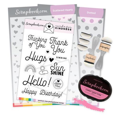 Scrapbook.com - Cards For Kindness - Ink Blending and Stencils