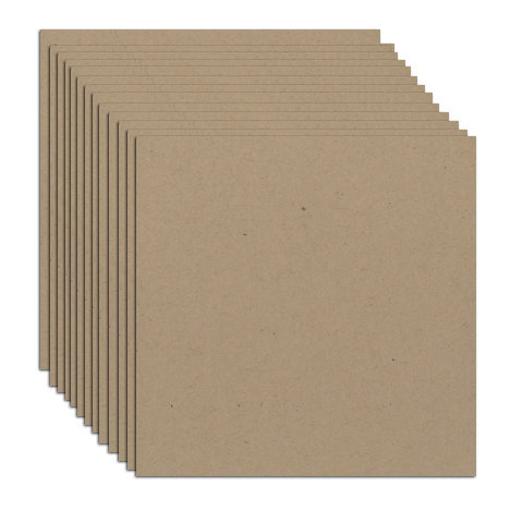12 x 12 Inch Thin Chipboard Pack - 20 Sheets