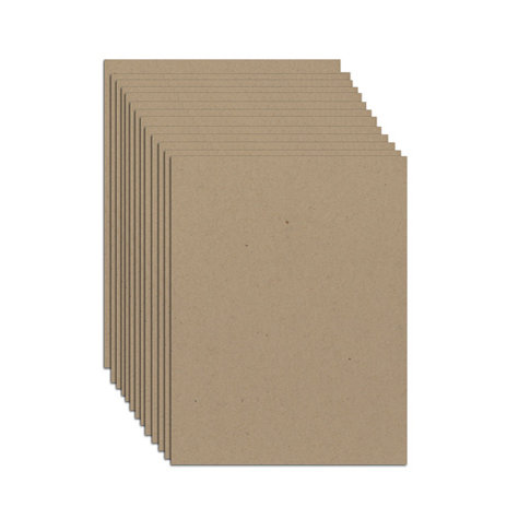 8.5 x 14 Inch Thin Chipboard Pack - 20 Sheets