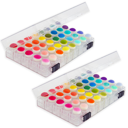 Scrapbook.com - Sponge Dauber - Storage Box with 40 Clear Sponge Daubers Included - 2 Pack