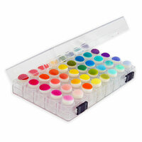 Scrapbook.com - Sponge Dauber Storage Box with 40 Clear Sponge Daubers Included