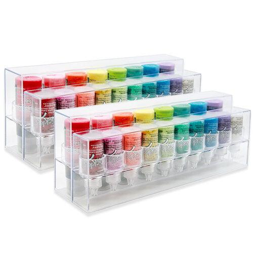 Scrapbook.com - The ColorCase - Storage for .5 oz Bottles 2 and 1oz Bottles 2 - 4 Pack
