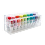 The ColorCase - Clear Stackable Storage Containers for .5 oz and 1oz Bottles - 2 Pack
