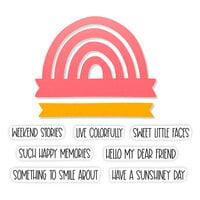Scrapbook.com - Decorative Die and Photopolymer Stamp Set - Rainbow Wishes - Bundle