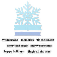 Scrapbook.com - Decorative Die and Photopolymer Stamp Set - Snowflake Winter Wishes - Bundle