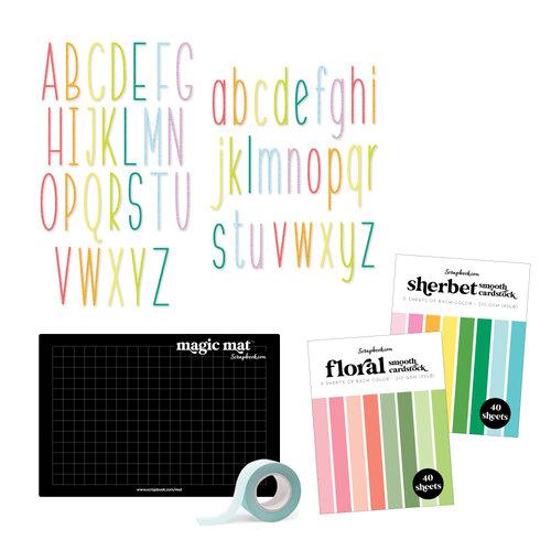 Scrapbook.com - Magic Mat Bundle - with Tall Skinny Alpha Dies, Cardstock, Mint Tape