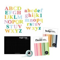Scrapbook.com - Magic Mat Bundle - with Classic Alpha Dies, Cardstock, Mint Tape