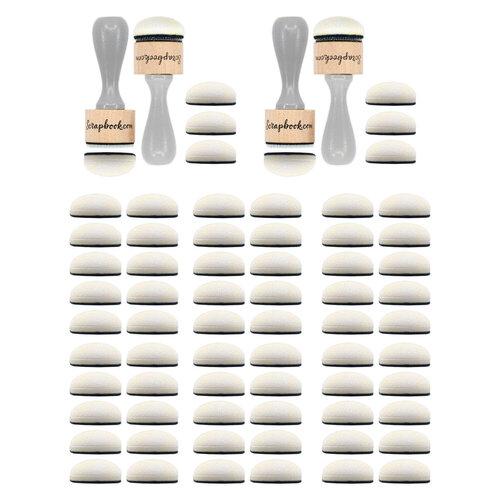 Scrapbook.com - (2) Ink Blending Tools  and (6) 10-Pack of Refill Domed Applicators