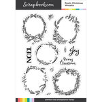 Clear Photopolymer Stamp Set - Rustic Christmas Wreaths