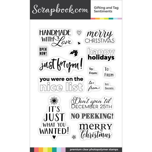 Scrapbook - Clear Photopolymer Stamp Set - Gifting and Tag Sentiments