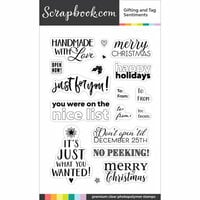 Scrapbook.com - Clear Photopolymer Stamp Set - Gifting and Tag Sentiments