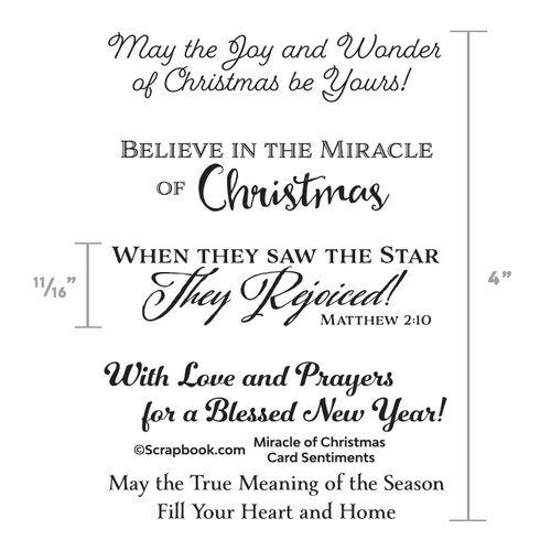 Christmas Sentiments For Cards.Scrapbook Com Clear Photopolymer Stamp Set Miracle Of Christmas Card Sentiments