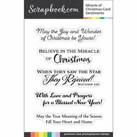 Scrapbook.com - Clear Photopolymer Stamp Set - Miracle of Christmas Card Sentiments