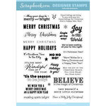 Clear Photopolymer Stamp Set - Holly Jolly Sentiments