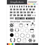 Clear Photopolymer Stamp Set - North Pole Numbers for December Days