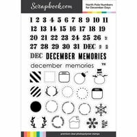 Scrapbook.com - Clear Photopolymer Stamp Set - North Pole Numbers for December Days