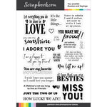 Clear Photopolymer Stamp Set - You and Me Quotes and Sayings