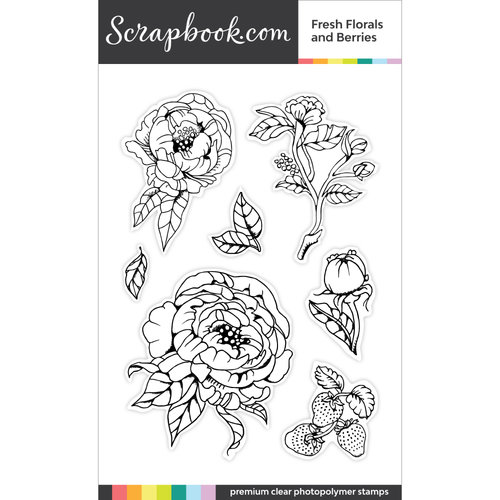 Scrapbook.com Fresh Florals Stamp Set
