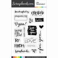 Scrapbook.com - Clear Photopolymer Stamp Set - Life Handmade Sentiments 2