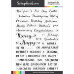 Clear Photopolymer Designer Stamps - Sentiments for Every Occasion