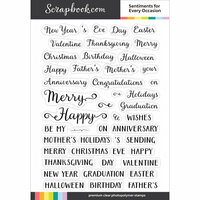 Scrapbook.com - Clear Photopolymer Stamp Set - Sentiments for Every Occasion