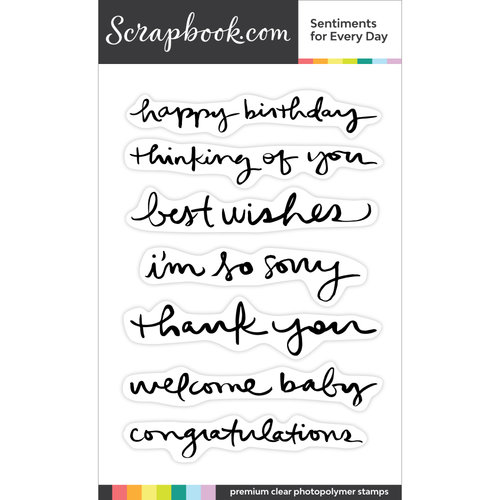 Scrapbook.com - Clear Photopolymer Stamp Set - Sentiments for Every Day