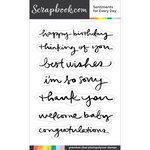 Clear Photopolymer Designer Stamps - Sentiments for Every Day