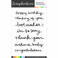 Clear Photopolymer Stamp Set - Sentiments for Every Day