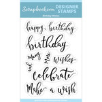 Clear Photopolymer Designer Stamps - Birthday Wishes