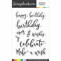 Clear Photopolymer Stamp Set - Birthday Wishes