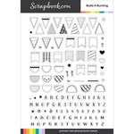 Clear Photopolymer Designer Stamps - Build A Bunting