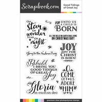 Scrapbook.com - Clear Photopolymer Stamp Set - Good Tidings of Great Joy