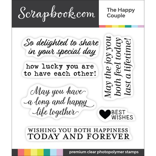 Clear Photopolymer Stamp Set - The Happy Couple
