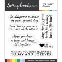 Scrapbook.com - Clear Photopolymer Stamp Set - The Happy Couple