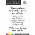 Clear Photopolymer Stamp Set - In Our Hearts Forever