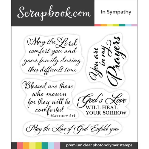 Scrapbook.com - Clear Photopolymer Stamp Set - In Sympathy