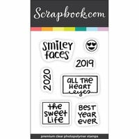 Scrapbook.com - Clear Photopolymer Stamp Set - Best Year Ever