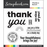 Scrapbook.com - Clear Photopolymer Stamp Set - Thanks a Bunch