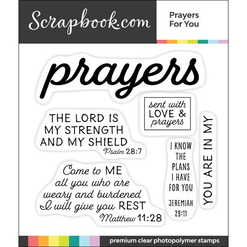 Scrapbook.com - Clear Photopolymer Stamp Set - Prayers for You
