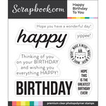 Clear Photopolymer Stamp Set - Happy Birthday to You