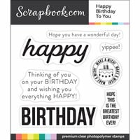Scrapbook.com - Clear Photopolymer Stamp Set - Happy Birthday to You