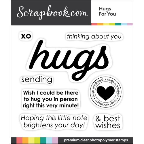 Scrapbook.com - Clear Photopolymer Stamp Set - Hugs for You