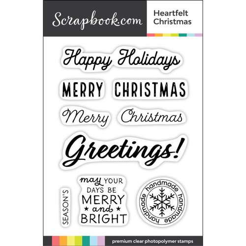 Clear Photopolymer Stamp Set - Heartfelt Christmas