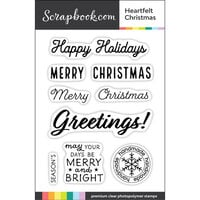 Scrapbook.com - Clear Photopolymer Stamp Set - Heartfelt Christmas