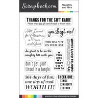 Scrapbook.com - Clear Photopolymer Stamp Set - Naughty and Nice