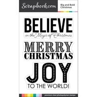 Scrapbook.com - Clear Photopolymer Stamp Set - Big and Bold Christmas