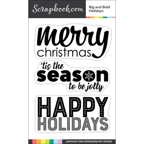 Scrapbook.com - Clear Photopolymer Stamp Set - Big and Bold Holidays