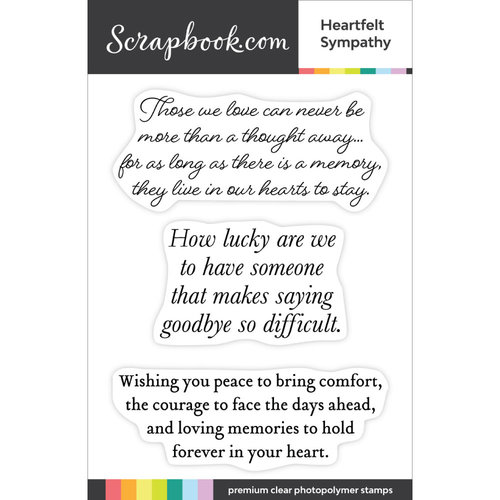 Scrapbook.com - Clear Photopolymer Stamp Set - Heartfelt Sympathy